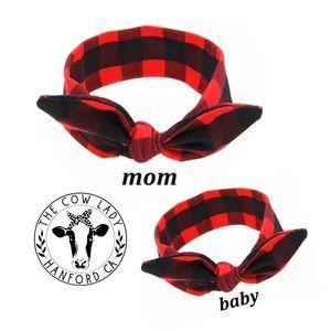 Plaid Matching Baby & Mom Headband Hairband NWT